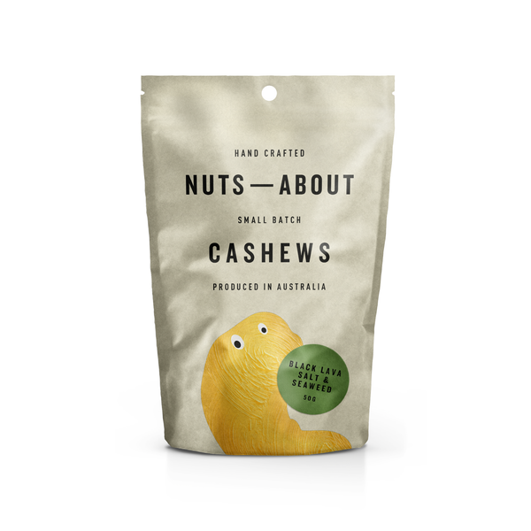 Cashews - Black Lava Salt & Seaweed - 50G
