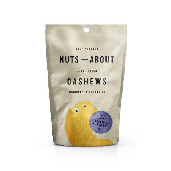 Cashews - Organic - Garlic & Rosemary - 50G