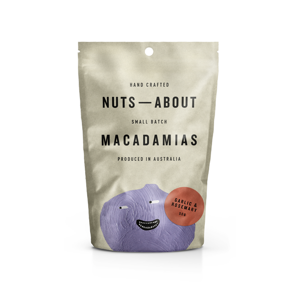 Macadamias - Garlic & Rosemary - 50G
