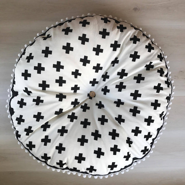 Monochrome cross  FLOOR CUSHION