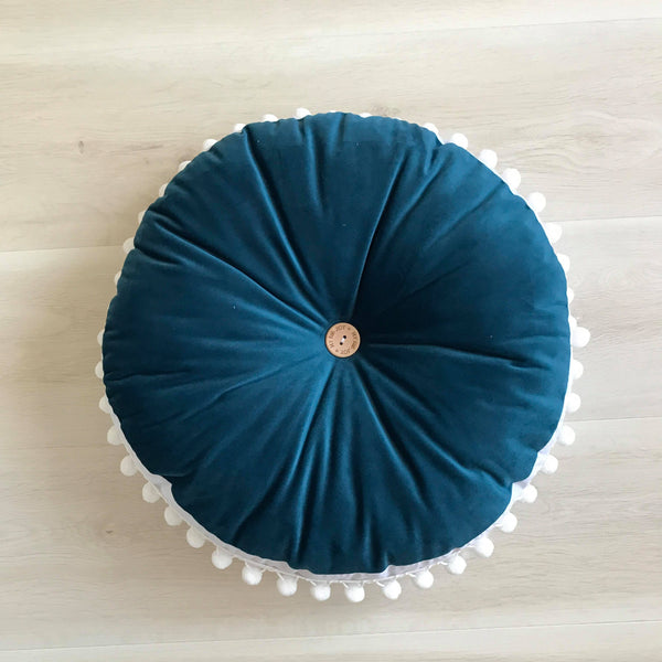 Peacock (blue) Luxe MINI CUSHION