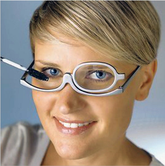Rotating Magnify Eye Makeup / Glasses Women Cosmetic
