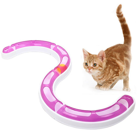 Cat Kitty Pet Track and Ball Toys Chase Game Hagen Catit Design Senses Playing Circuit Toy