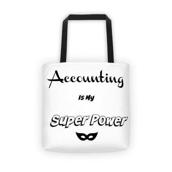 Accounting is My Superpower Tote bag - Gabi & Maria Pretty-Print Boutique
