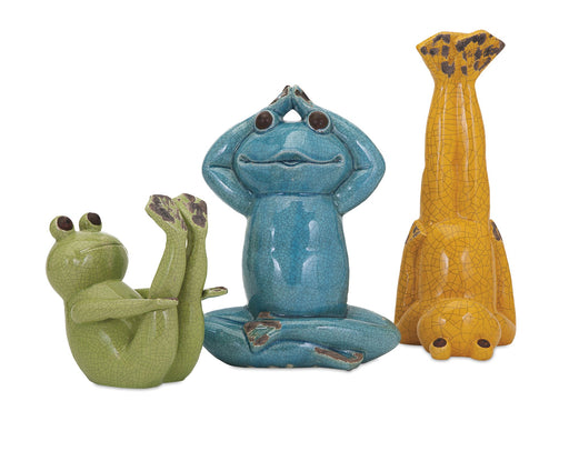 Yoga-Frog-Statuaries