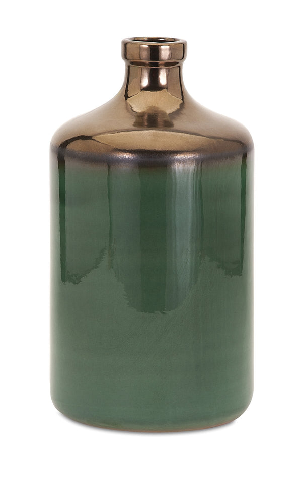 Melenia-Large-Green-and-Bronze-Vase