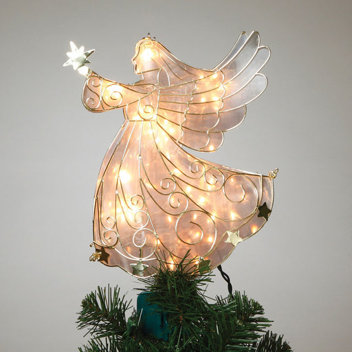 "11"" Gold Outline Angel Tree Topper"