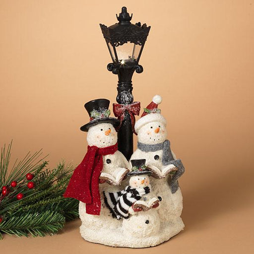 Lighted Snowman Carolers