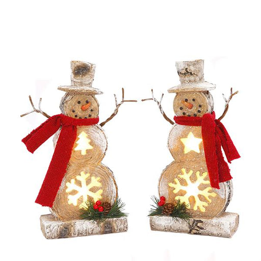 "10"" Lighted Snowman"