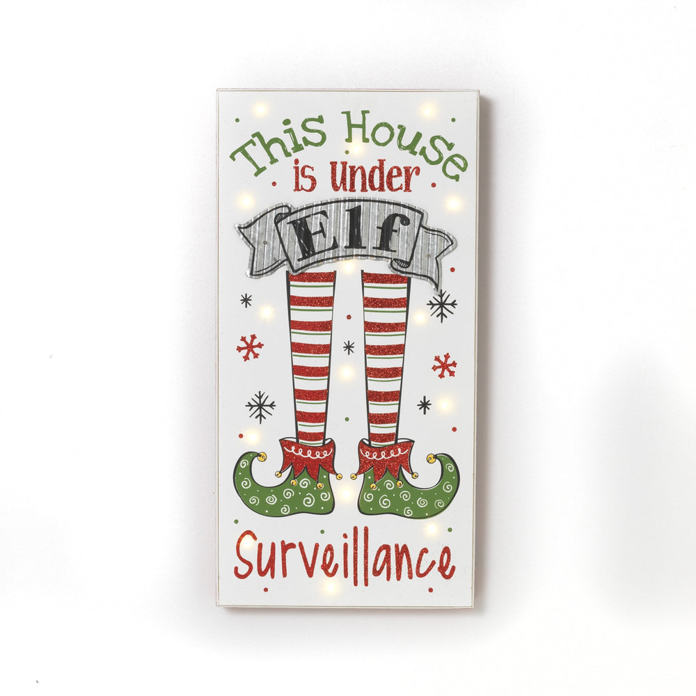 "23.6""  B/O Elf Surveillance Sign"