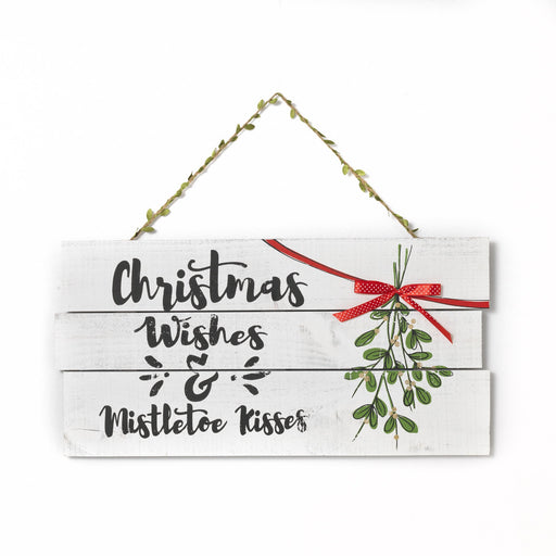 "23.6""  Wd Christmas Wishes Sign"