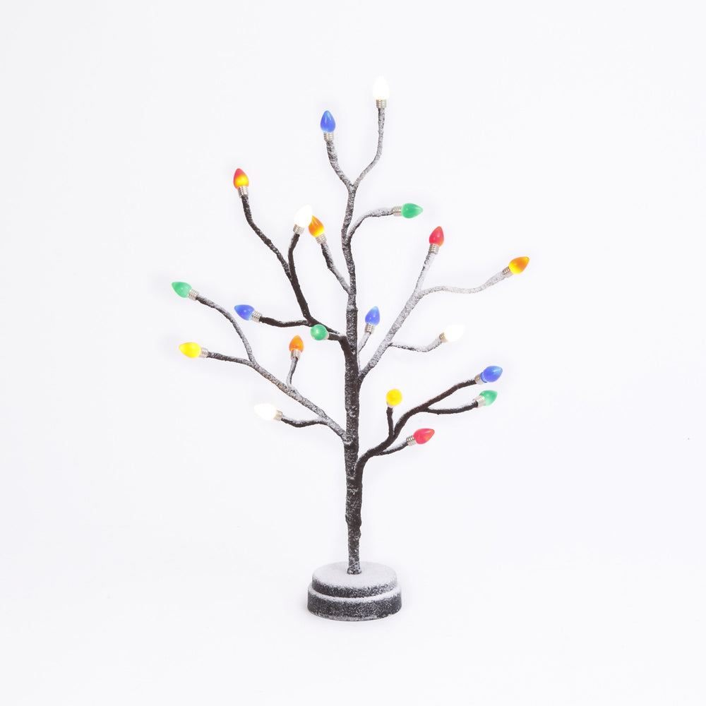 "19.7""  B/O Twig Tree w/Multi Lights"