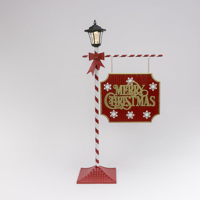 "47.6"" Solar Merry Christmas Street Sign"