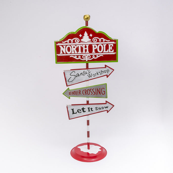 "60"" North Pole Street Sign"