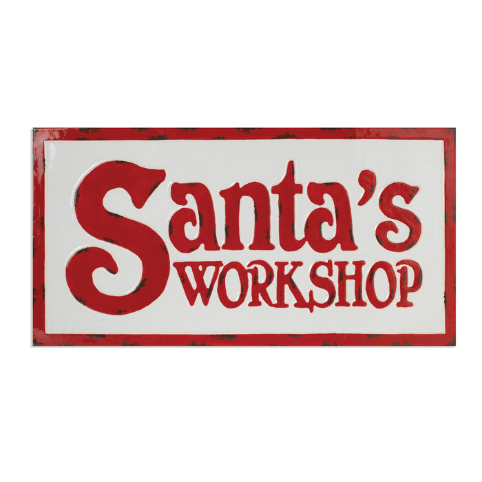 "28""  Mtl Santa's Workshop Sign"