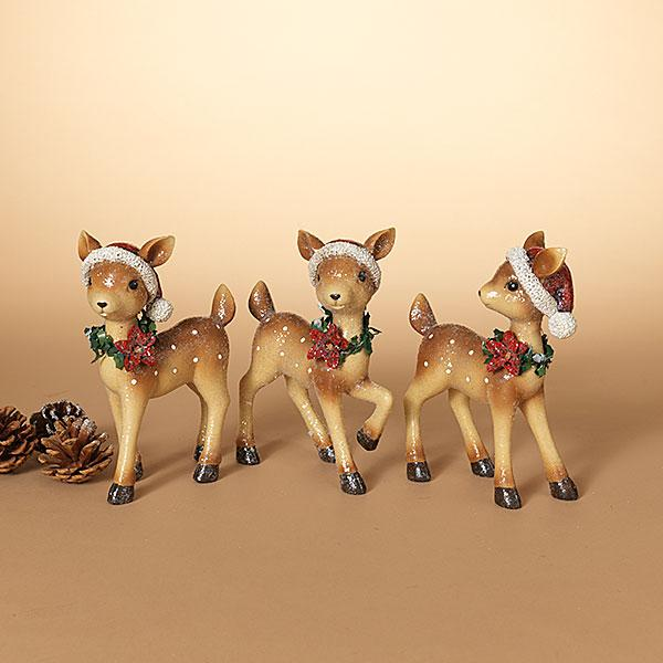 "8"" Holiday Deer Figurine"