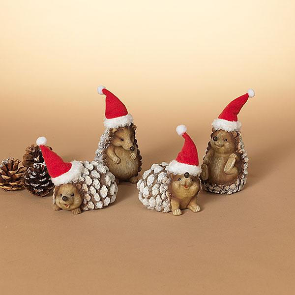 "4"" Holiday Hedgehog Figurine"