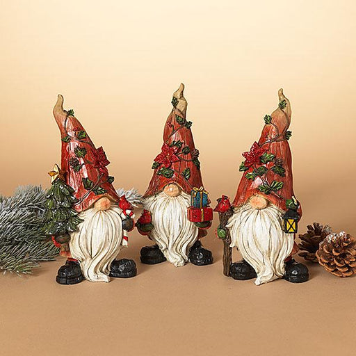 "9"" Holiday Gnome Figurine's"