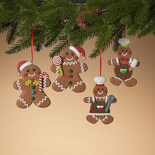 "4.3"" Clay Dough Gingerbread Ornament"