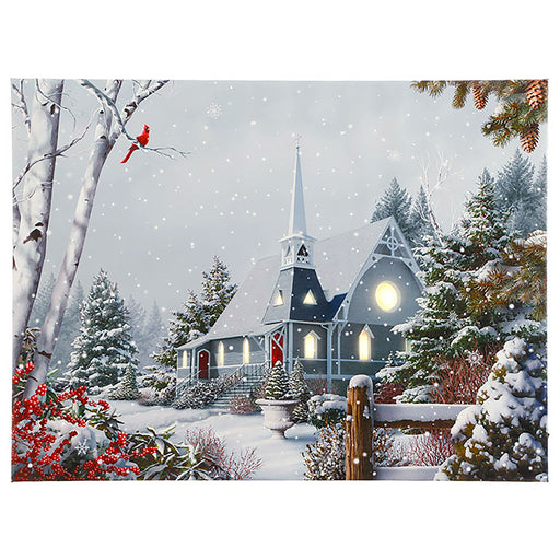 Snow Church Print