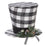 Plaid Top Hat Ornament