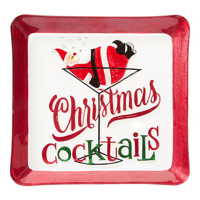 Christmas Cocktails Plate