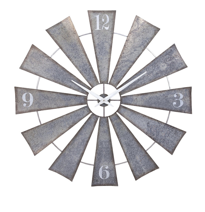 Ward-Metal-Windmill-Wall-Clock