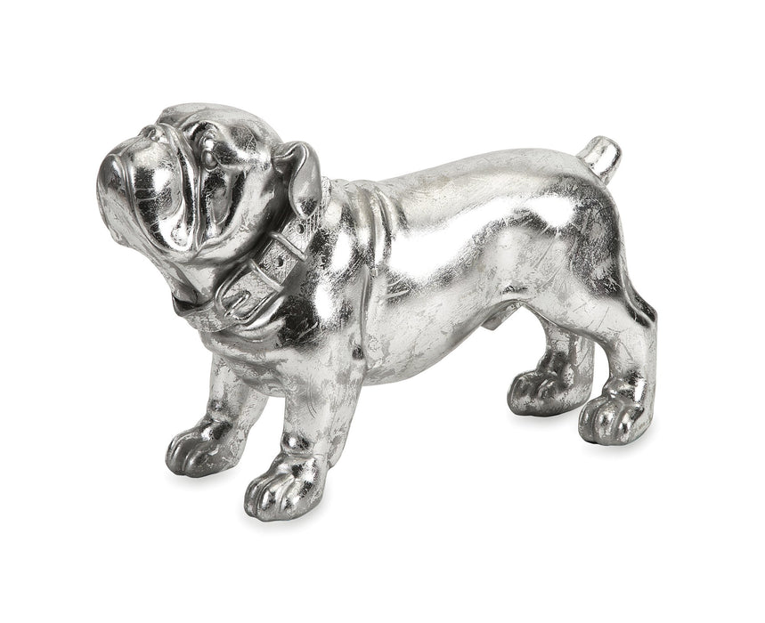 Maximus-Stick-Silver-Dog-Statue