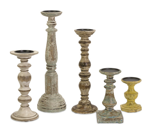 Kanan-Wood-Candleholders-with-Distressed-Finish