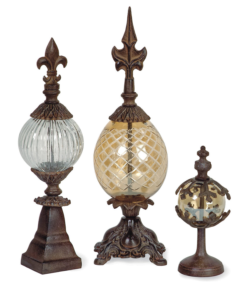 Glass-and-Metal-Finials