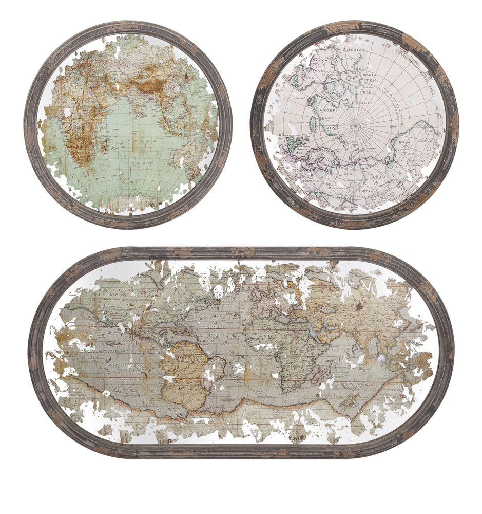 Mirrored-Map-Wall-Decor