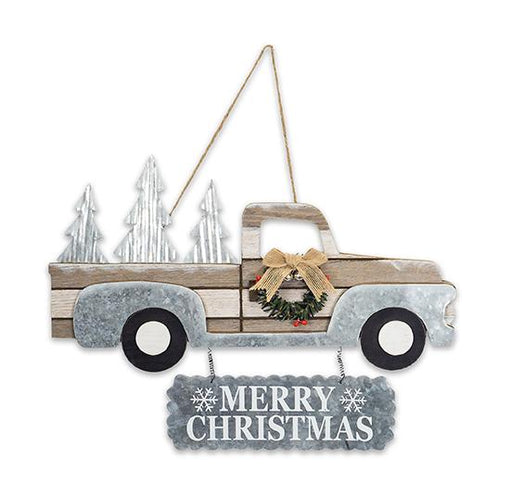 "15x11"" Truck Mry Christmas Sign"