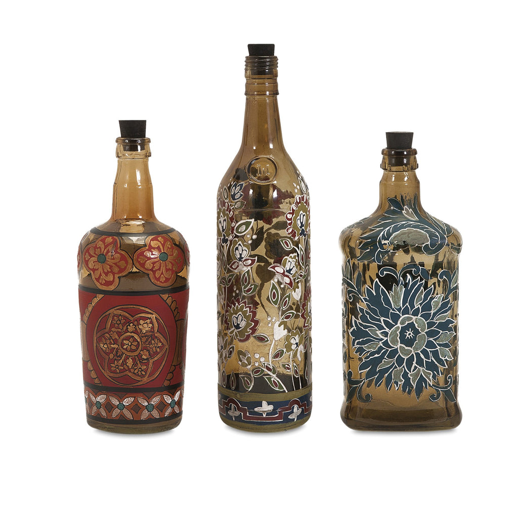 Reclaimed-Hand-painted-Bottles