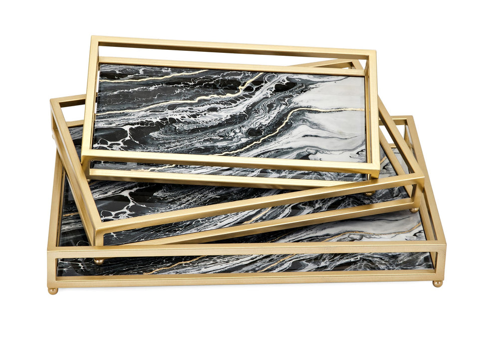 Contrast-Faux-Marble-Decorative-Trays