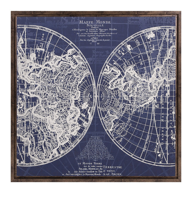Harrington-Framed-Blue-Map
