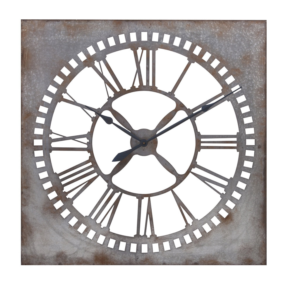 Murphy-Galvanized-Clock