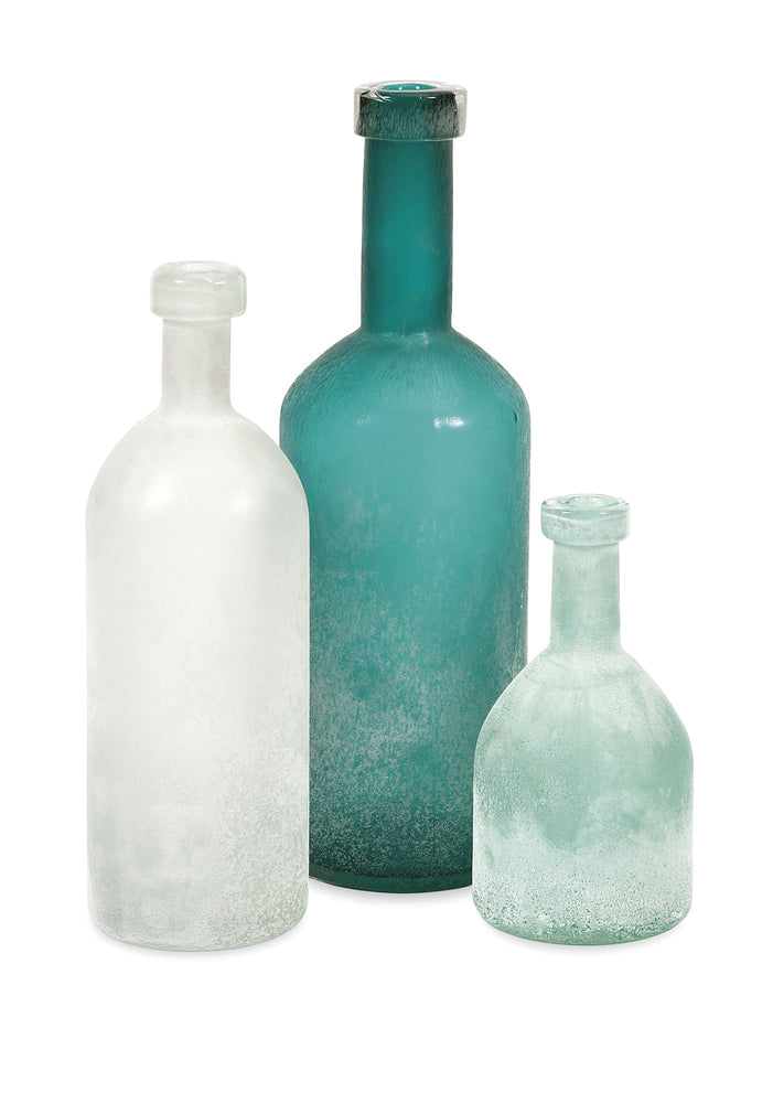 Russell-Handblown-Glass-Bottles---Set-3