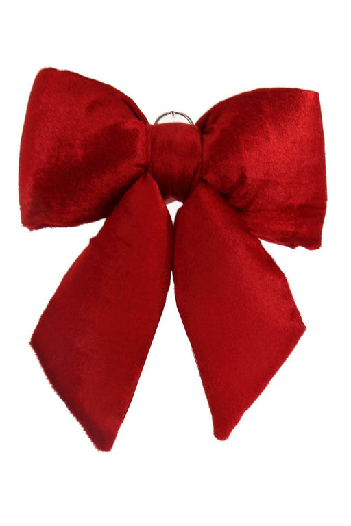 "11x13"" red velvet chair bow"