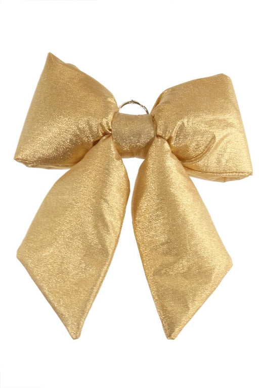 "11""x13"" mesh gold chair bow"