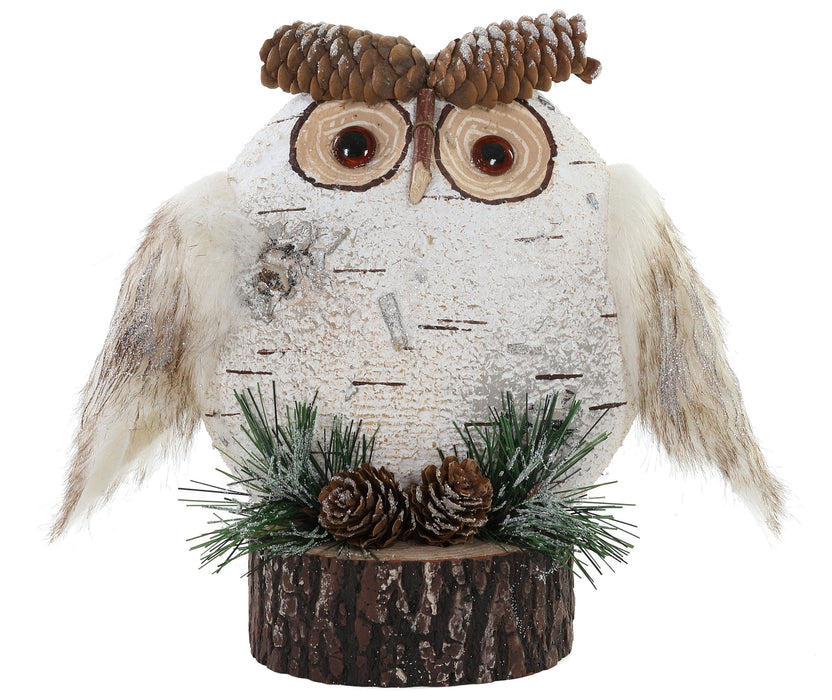 "8.25x9.5""  Birch-look Owl On Log"