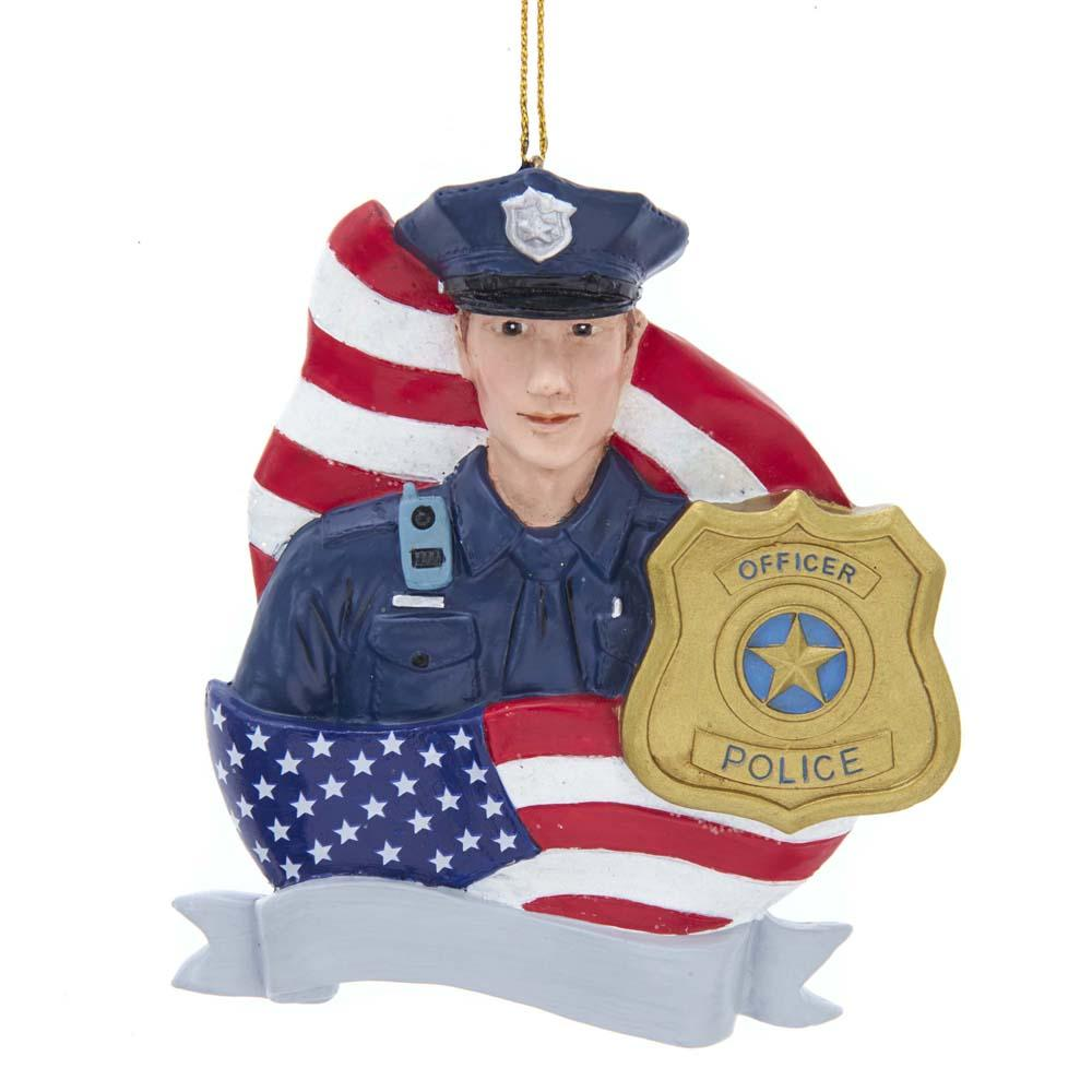 "4.2"" Policeman With Flag & Badge"