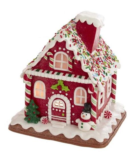 "7"" LED Gingerbread House"