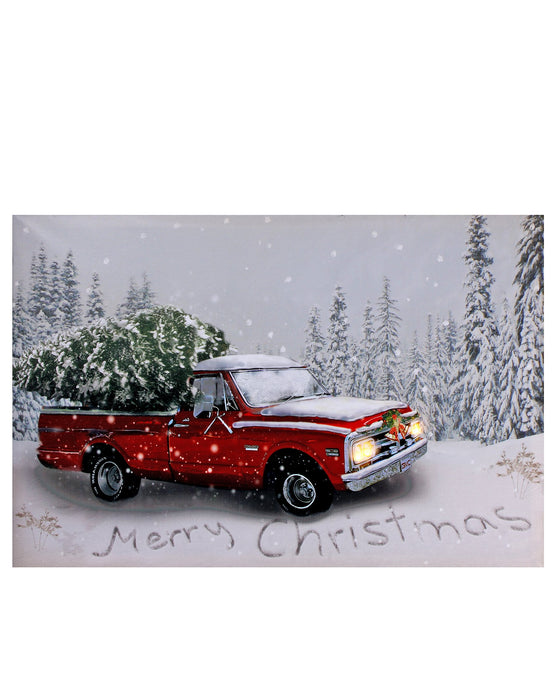 "16""X24"" B/O PICKUP TRUCK W/TREE ART"