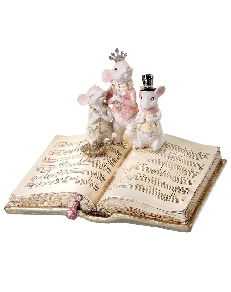 "9"" SINGING MICE ON MUSIC BOOK"