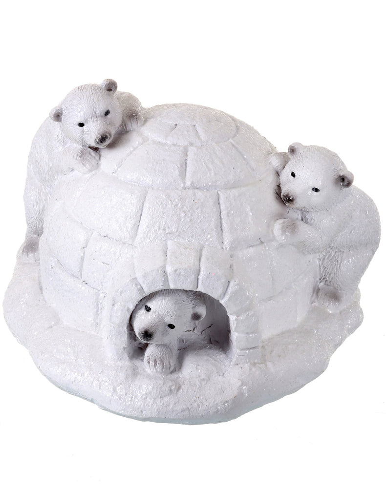 "7"" FRSTD POLAR BEARS IN IGLOO"