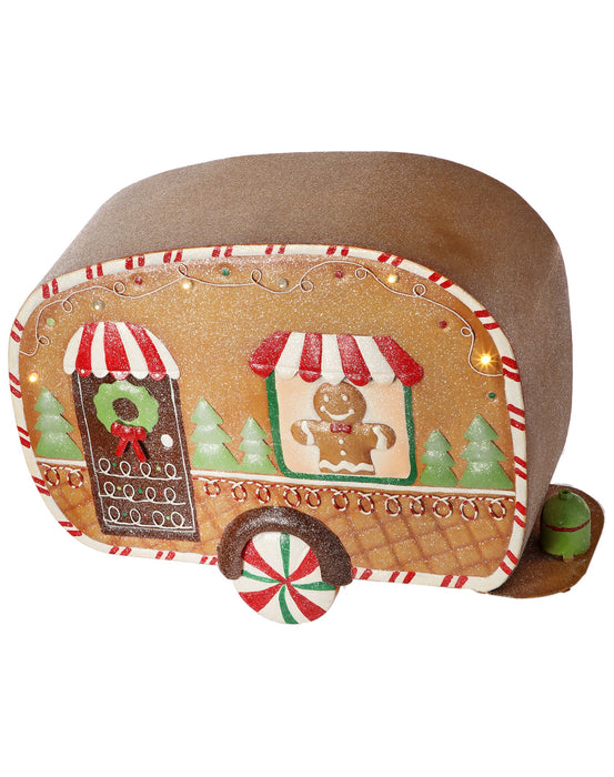 "16"" B/O FROST GINGERBREAD TRAILER"