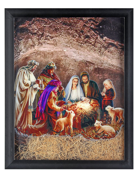 "16""X20"" FRAMED NATIVITY/CRESH SCENE"