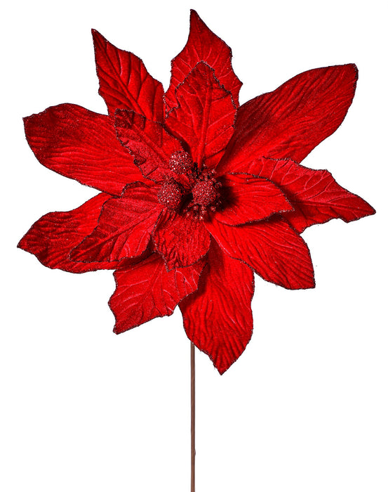 "19X30"" RED POINSETTIA STEM"