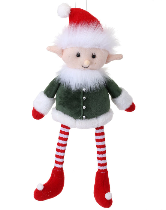 "14"" TOY WORKSHOP SITTING ELF"