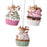 "3"" Cupcake With Mouse Ornaments"